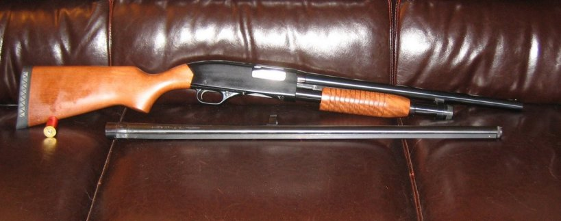 "Winchester 1300 w/18"" bbl (28"" bbl also shown)"
